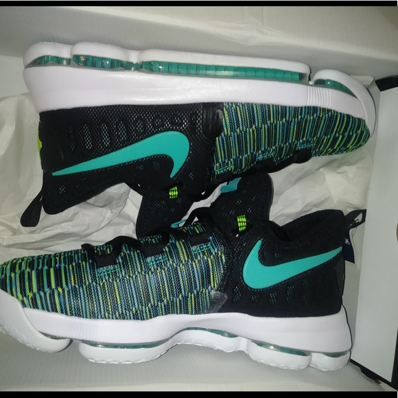 new style 02176 dac33 Nike Zoom KD9 GS Black Green Size 6.5Y